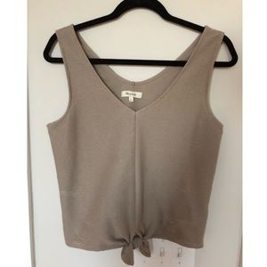 Madewell tie-front tank